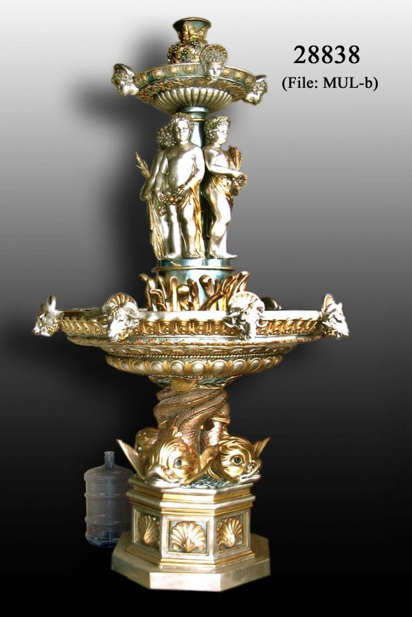 160: Keliam - Bronze Cherubs with Dragon Fountain
