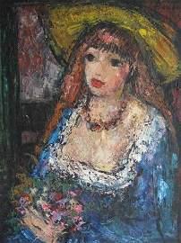 1: Painting by Oscar Barblan (Italian, 1909-1987)