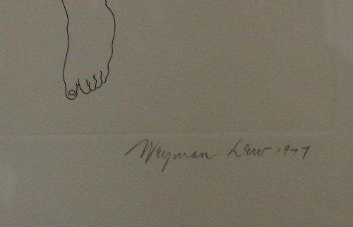 278: Etching by Weyman Lew (American, 1935- ) - 3