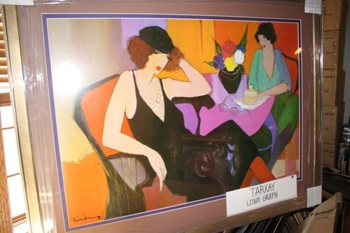 1A: Signed Tarkay Lithograph In The Lounge