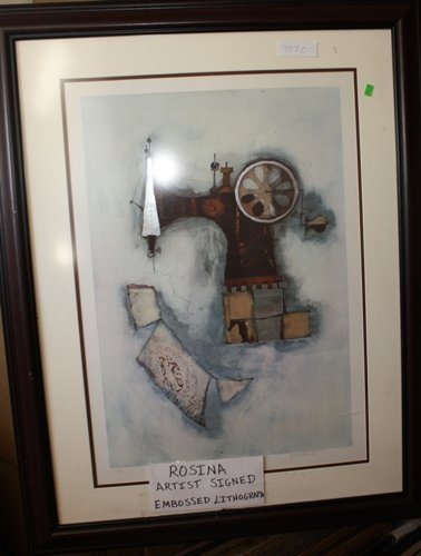 1D: Hand Signed #'d Embossed Lithograph Rosina