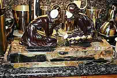 439: Signed Bronze & Ivory Tender Promises Chiparus