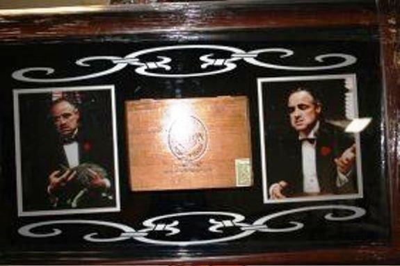 1J: Framed Godfather Collage Cigar Box