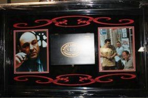 2J: Framed Sopranos Collage Cigar Box