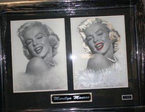 6J: Framed Ltd. Ed. Double Photo of Marilyn Monroe