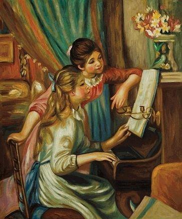 6K: Renoir - Young Girls at the Piano