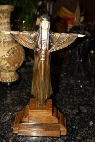 3: Signed Bronze & Ivory Deco Creed Chiparus