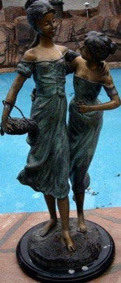 1G: 99: Bronze Sculpture Sisters by Moreau