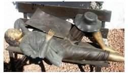 29G: 127: Beautiful Bronze Tom Sawyer on Bench