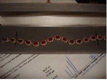 1I: 294: Ladies 14K Yellow Gold Ruby & Diamond Bracelet