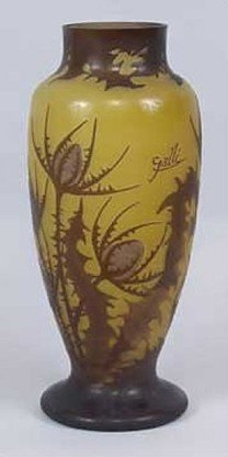 2K: 459: Signed Attributed to Galle Vase