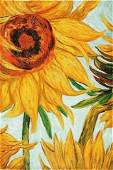 152B 52 Signed Limited Edition Oil Sunflowers Van G