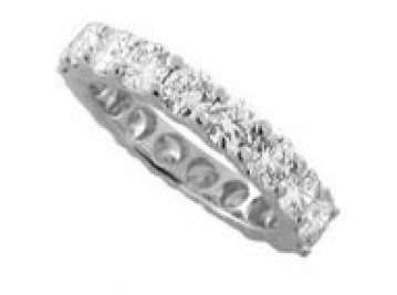 14: 30: 4.66 Carats SI2 Diamond Eternity Ring in 18k Wh