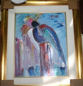 4A: 4: Original Acrylic on Canvas Peter Max Angel