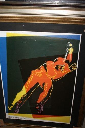 Andy Warhol Lithograph Skiier