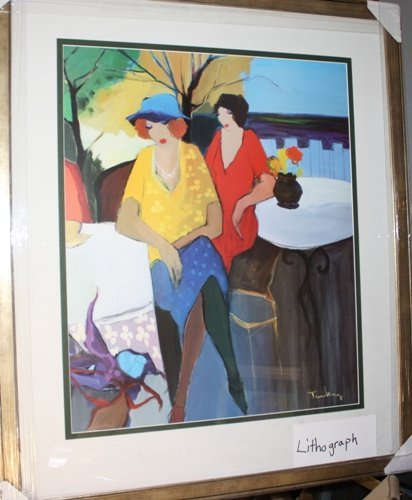 4A: Signed Tarkay Lithograph Garden Party