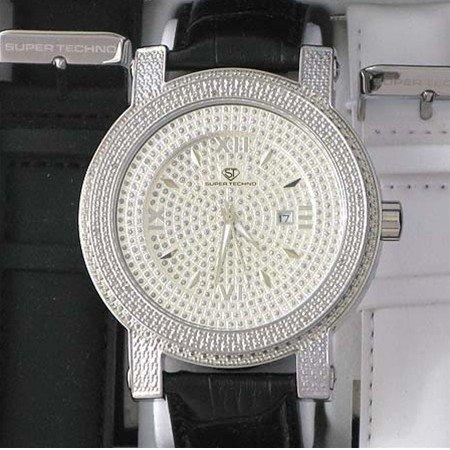 2: Men's Super Techno Diamond Bezel Watch