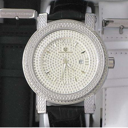 2: Men's Super Techno Diamond Bezel Watch