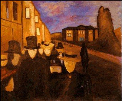 48D: Munch - Evening on Karl Johan