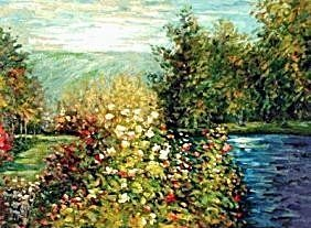"1E: 101: ""Corner of the Garden at Montgeron"" Monet"