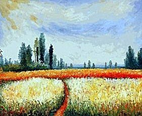 "2E: 102: Signed Limited Edition Oil ""Distant Poplars"" M"