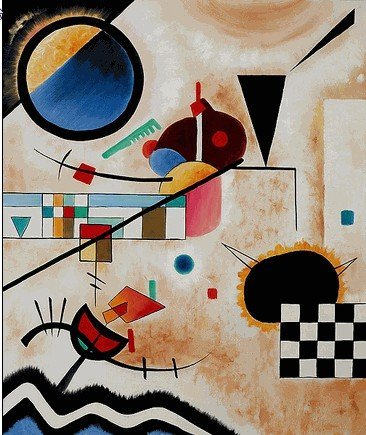 "1F: 257: Sgd Ltd Ed ""Contrasting Sounds"" Kandinsky"
