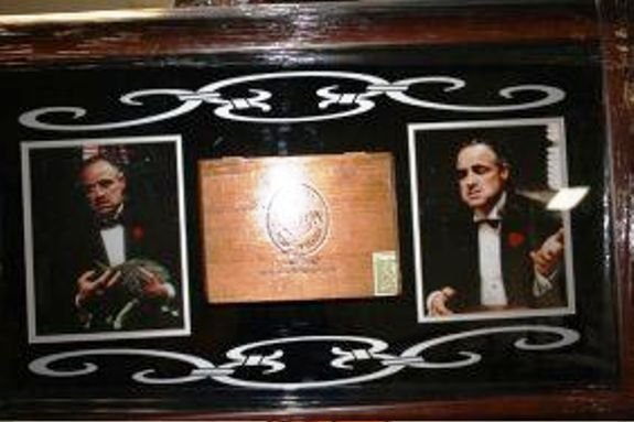 1B: Framed Godfather Collage Cigar Box