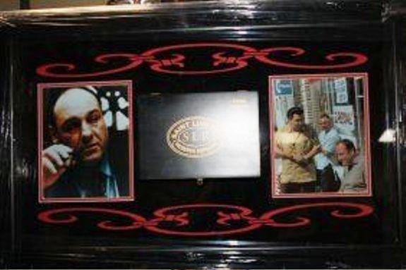 2B: Framed Sopranos Collage Cigar Box