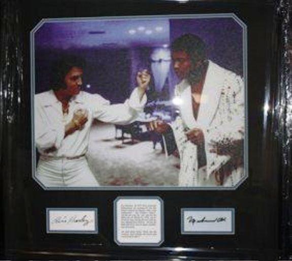 4B: Framed Autographed Elvis Presley and Muhammad Ali C