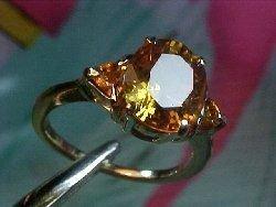 1Z: Rare Solitaire Fancy Color SAPPHIRE 14kt Ring