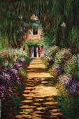 133: Monet - Garden Path at Giverny