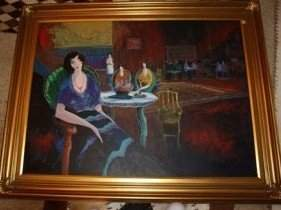 352A: Original Tarkay Oil on Canvas
