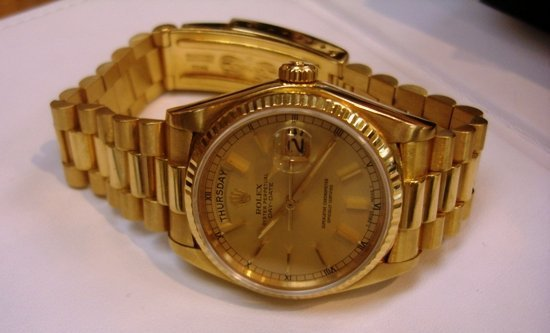 100Z: Mens 18K Presidental Rolex