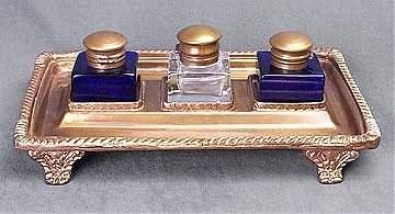 1: Brass Inkwell