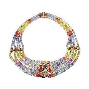 37A: Rare 629 Carats Twt. Queen's Diamond Sapphire Neck