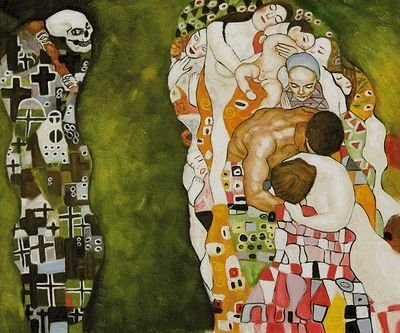2B: Klimt - Death and Life Hand painted oil reproductio