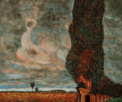 3B: Klimt - High Poplar This is a hand painted oil repr