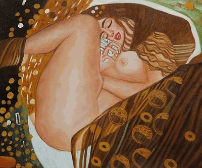 5B: Klimt - Danae Hand painted oil reproduction of a fa