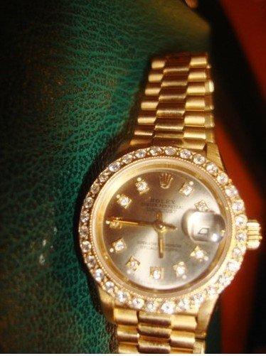 3L: Ladie's Presidential Diamond Dial Rolex