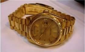 325Z: Mens 18K Yellow Gold Presidental Rolex