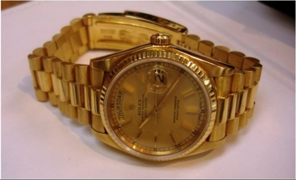 325Z: Mens 18K Yellow Gold Presidental Rolex