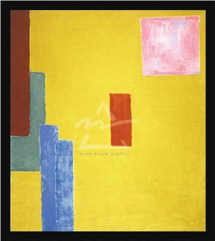 2M: Abstract Painting, 1914 (serigraph) by V. Bell Item