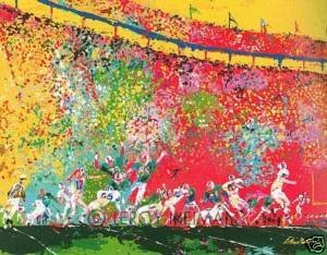 100N: ORIGINAL Leroy Neiman - Superbowl VI Miami vs Dal