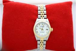 315Z: Stainless 18K Ladies Date Just Rolex