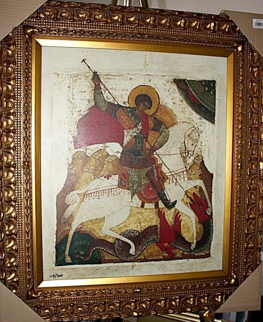 """3B: """"St George And The Dragon"""" - Unknown artist"""