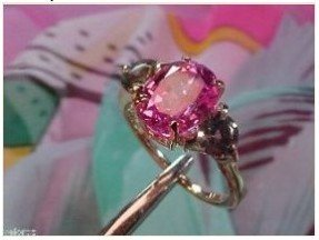 5: 1J: Rare Fancy Color Hot Pink Solitaire SAPPHIR