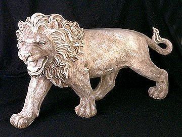 221: Ivory Finish Lion Figure