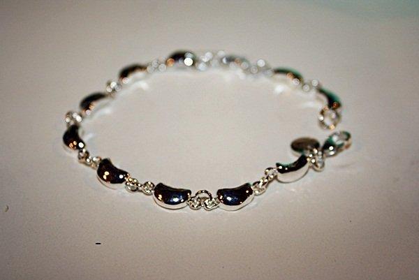 150X: Sterling silver Tiffany Crescent Moon Bracelet