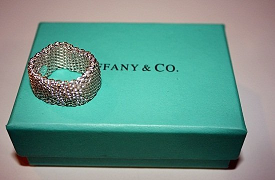 180X: Sterling silver Tiffany Wide Ring