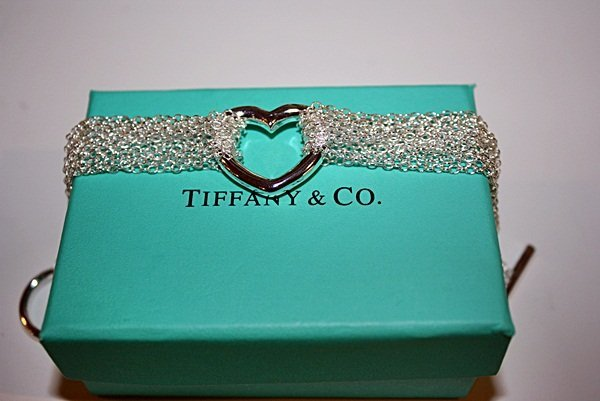 190X: Sterling silver Tiffany Heart Bracelet
